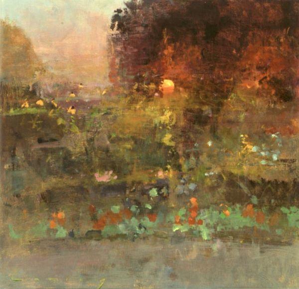 Fred Cuming RA, Sunset Garden
