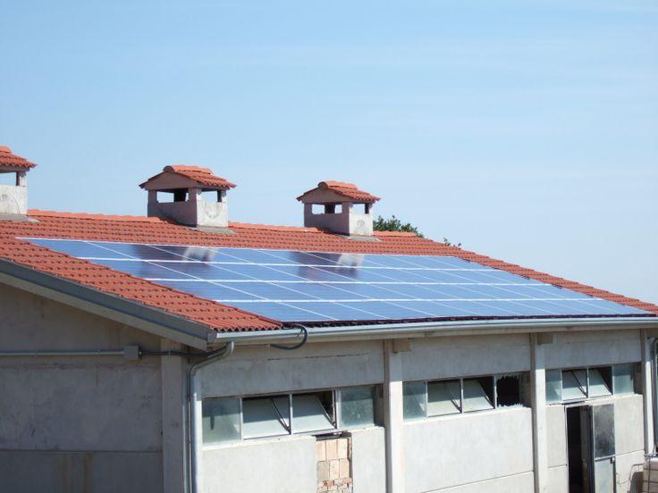 10 kW solar plant on a farm building. Italy 2009