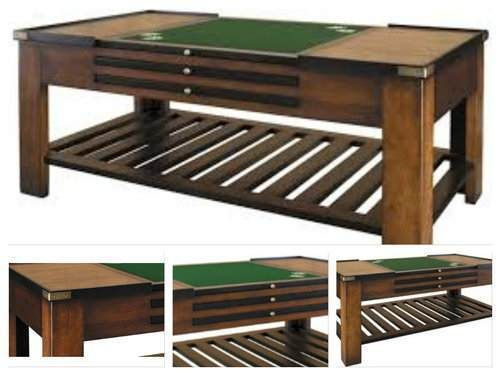Multi-Game-Table-Combination-Solid-Wood-Top-Poker-Cards-Backgammon-Domino-Room