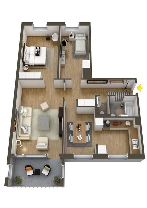 Rumah Sederhana 46 Denah Rumah Desain Apartemen Rumah