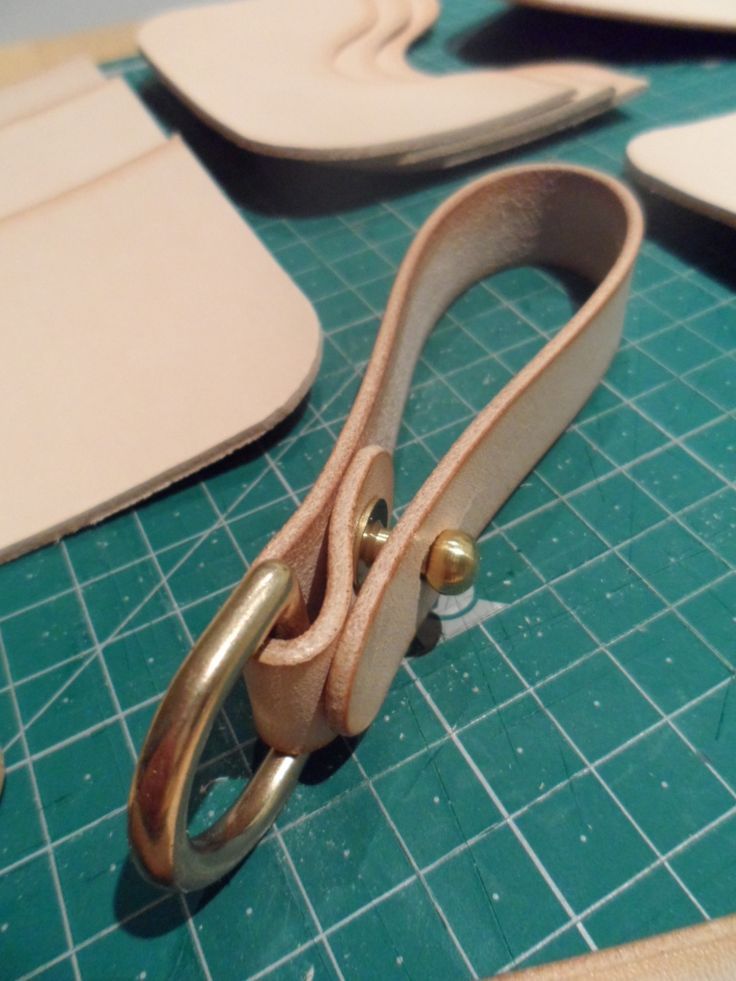 Fold over leather key