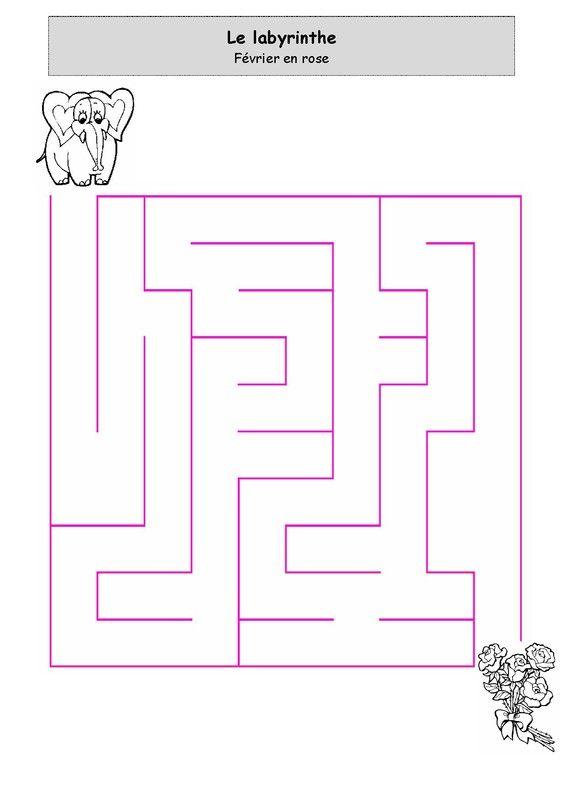 Février en rose - Labyrinthe