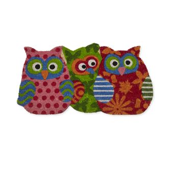 Add a burst of colour and have a hoot with this playful doormat! Made of natural coir fibre, this mat is perfect for indoor and outdoor use. Made in INDIA.  These are adorable!!  Only $19.99