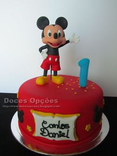 Doces Opções: O Mickey no aniversário do Carlos Daniel