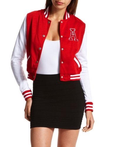 Charlotte Russe - Varsity Letterman Jacket - StyleSays