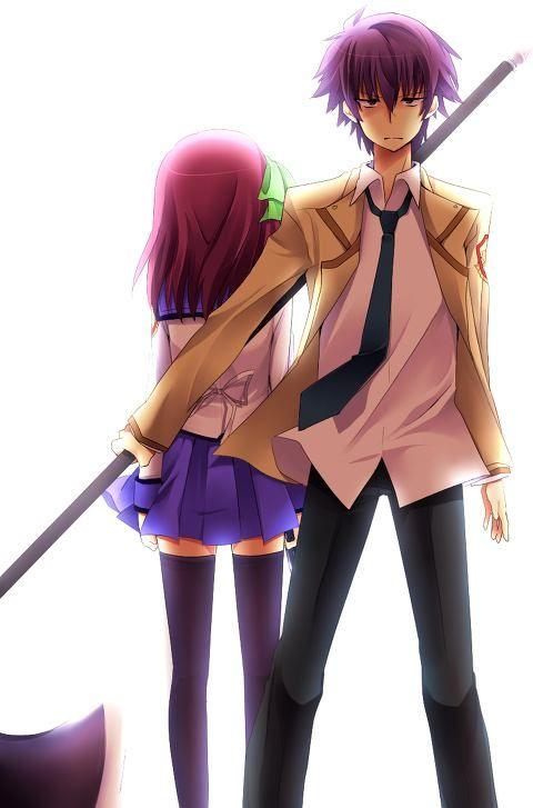 Noda & Yuri | Angel Beats!...Noda always looks like angry, except when he…