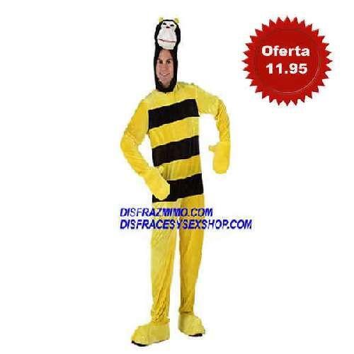 disfraz de abejorro hombre xl en talla xl en el que incluye Mono,capucha y guantes