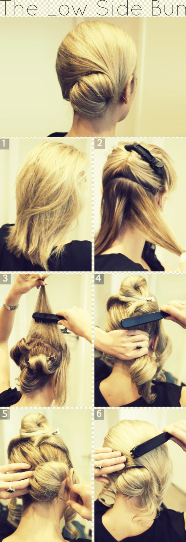 The Low Side Bun Step by Step Tutorial - I love that this is something you don't have to actually have long hair for