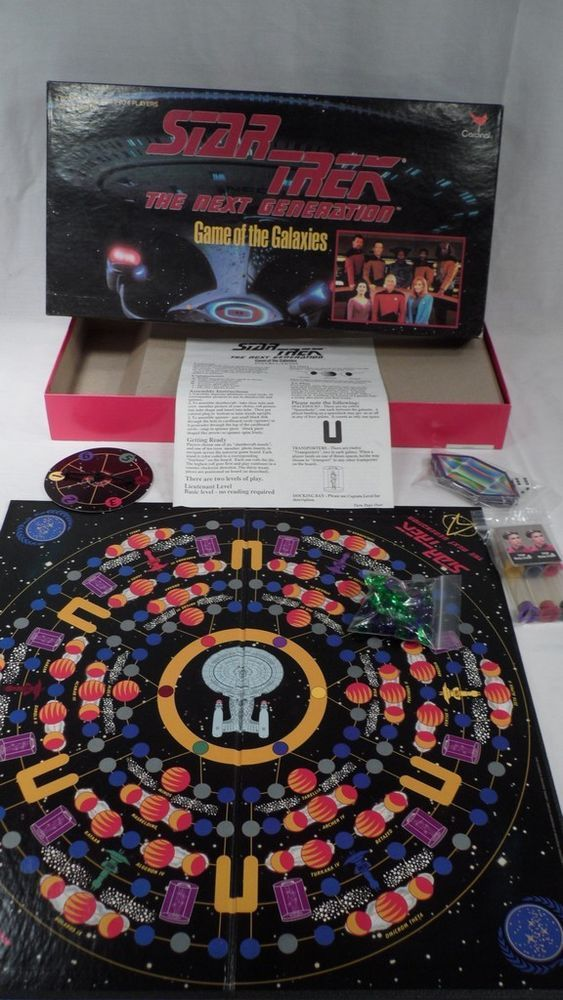 Fun Vintage 1993 Cardinal Star Trek Game of the Galaxies Board Game - Complete