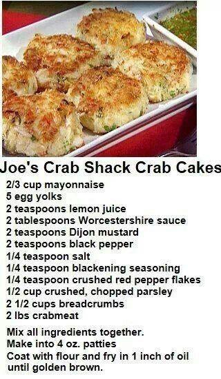 Joe's crab shack crab cakes