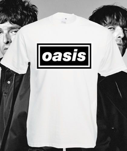 Oasis T Shirt Definitely Maybe Band Top Tee Liam Noel Gallagher Beady Eye New
