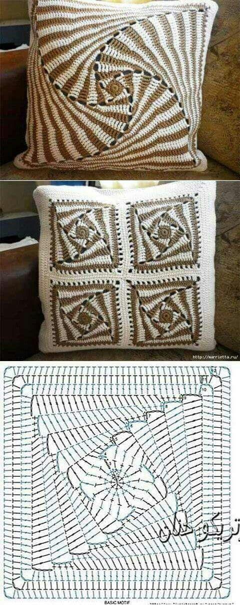 ARM - TEJIDO o CROCHE. Cojin./////     Crochet