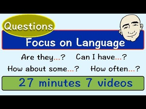 Question Patterns | Focus On English | Part 2 | English Speaking Practice | ESL | EFL - YouTube