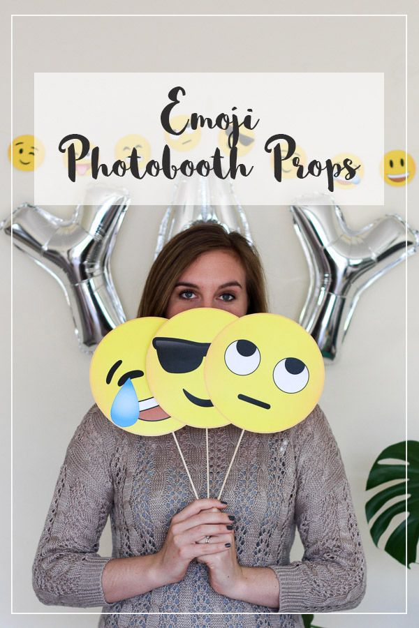 Fun free Emoji photobooth props for use at your next party. Enjoy!
