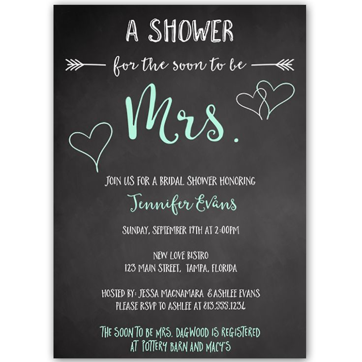 Soon to Be Mrs Mint Bridal Shower Invitation