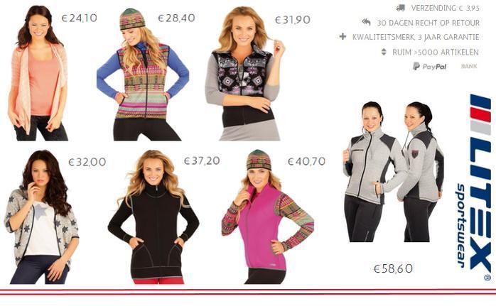 Wisselvallig #weer, draag een vest! http://www.litex-shop.nl/dames/sportkleding/vesten/…