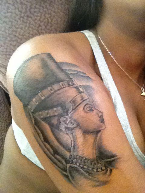 nefertiti tattoo i had done last week nesha pinterest nefertiti tattoo tattoo and tatting. Black Bedroom Furniture Sets. Home Design Ideas