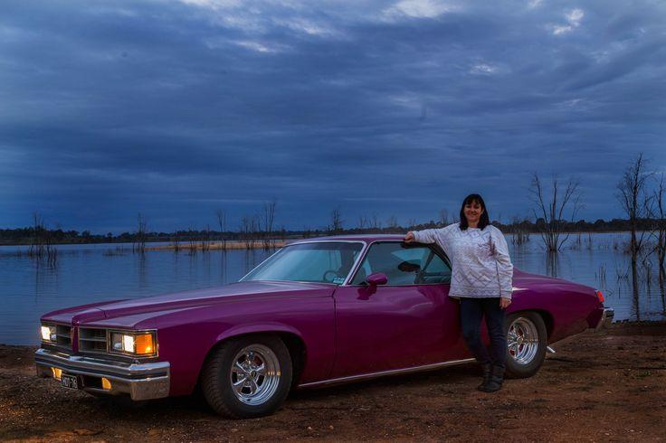 Pride & Joy shoot 3 - Reshoot of Leeanne Hodge with her 1976 Pontiac Lemans