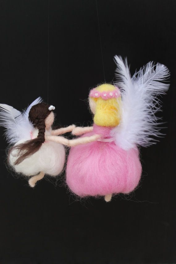 Mother and daughter needle felted fairies by JensFeltedJems, $48.00