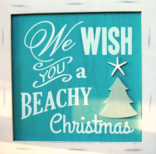 Happy Holidays & Merry Christmas from Completely Coastal & Beach Bliss Living. Sign featured here: http://beachblissliving.com/beach-christmas-decorations/