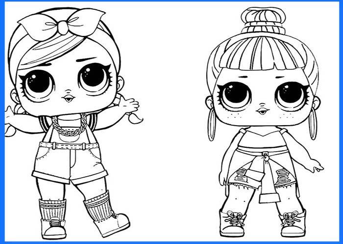 Dibujos Munecas Lol Surprise Para Imprimir Lol Dolls Coloring