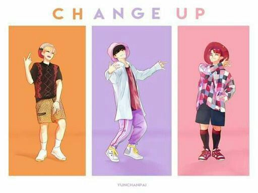 """(This is NOT my art) Fanart of """"Change Up"""" but SVT Leaders. Hoshi/Soonyoung (left), S.Coups/Seungcheol (middle), Woozi/Jihoon (right). ~Saved by Viv"""