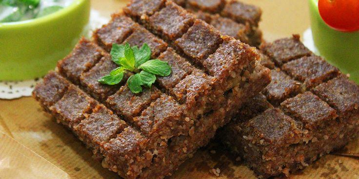 Kibbeh Bil-Saniyeh / Baked Kibbeh Recipe