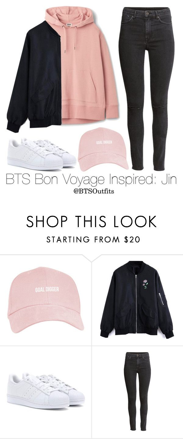"""BTS Bon Voyage Inspired: Jin"" by btsoutfits ❤ liked on Polyvore featuring adidas and H&M https://twitter.com/ShoesEgminfmn/status/895096695293329409"