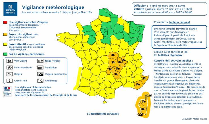 Carte de vigilance Météo-France