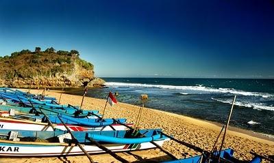 Drini beach, Yogyakarta, Indonesia
