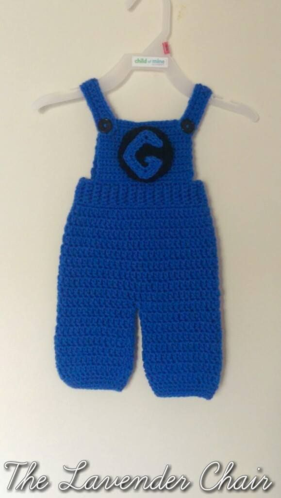 Free Crochet Pattern Minion Overalls : Free Jumpsuit Crochet Pattern - 0-18months - The Lavender ...