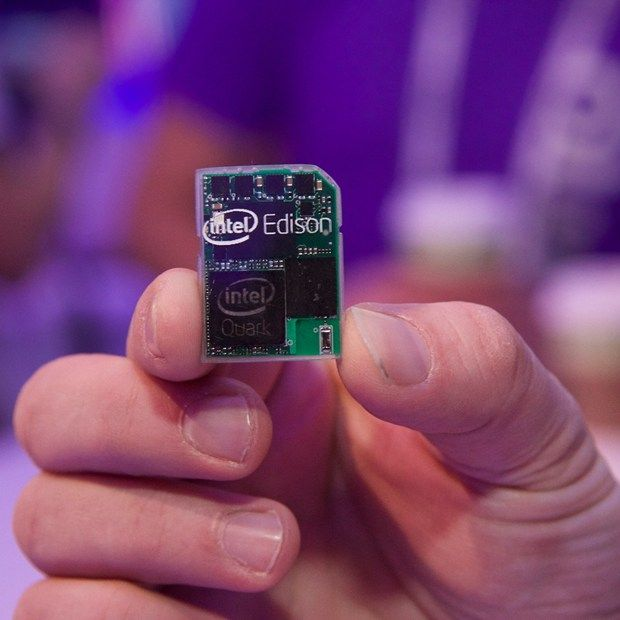 Intel Edison is a full computer on an SD card, unveiled at CES today.