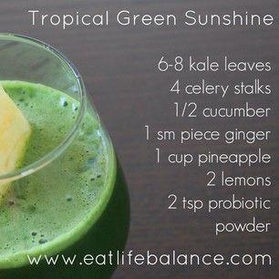Tropical Green Sunshine Juice