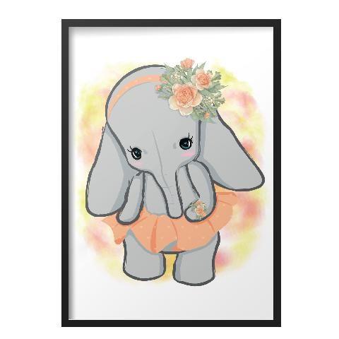Szoknyás elefánt modern fali kép