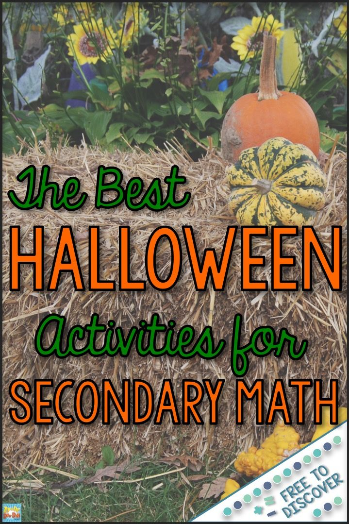 You and your middle and high school students will LOVE these mathematically-meaningful Halloween activities.  Students work both individually and collaboratively in pairs to solve math problems.  Topics include rate of change and slope, solving linear equations, x- and y-intercepts, and rational numbers. By Free to Discover.