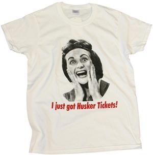 Womens Husker Tickets T-shirt White