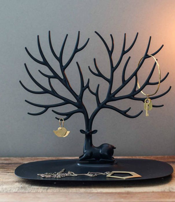 Display Jewelry Tree Deer Stand Holder Rack Show Earring Necklace Ring Retro UK in Jewellery & Watches, Jewellery Boxes & Supplies, Jewellery Display   eBay