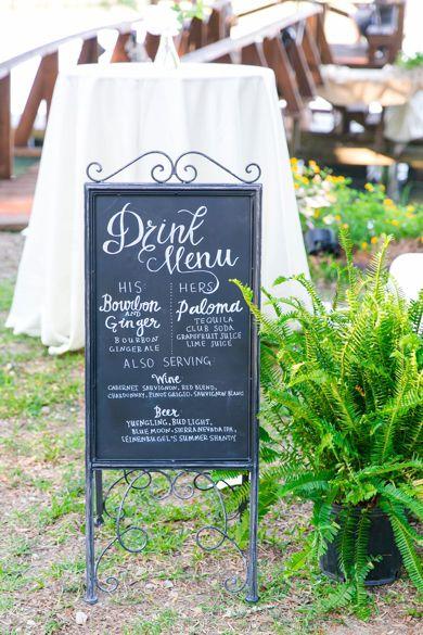 Chalkboard menu | by Charleston wedding photographer Dana Cubbage