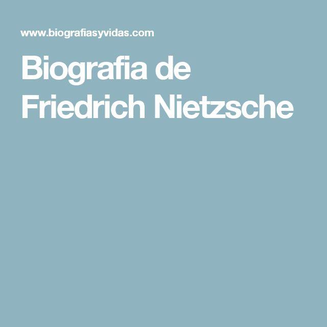 Biografia de Friedrich Nietzsche