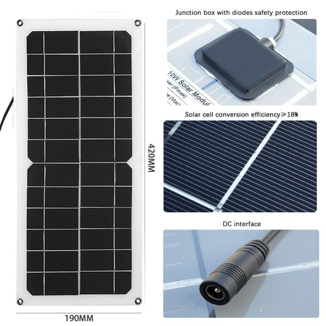 Newly Solar Panel 10w 12v 5v Solar Cell Flexible Transparent Monocrystalline Silicon Diy Battery Pho Solar Energy Panels Flexible Solar Panels Solar Technology