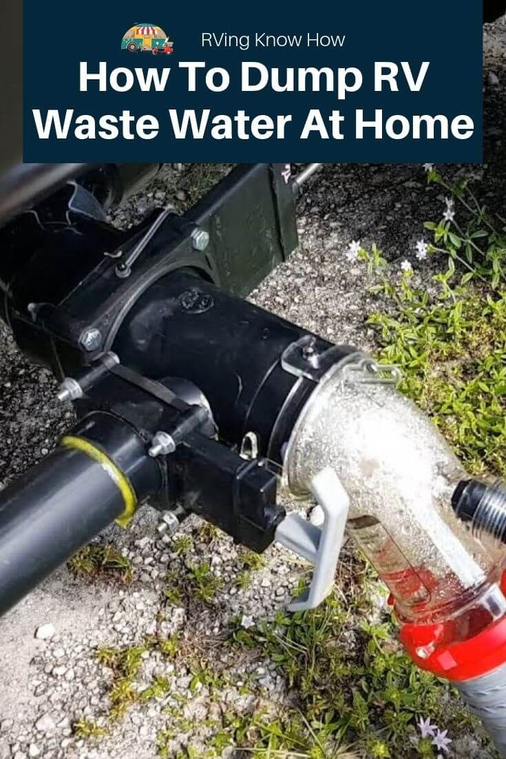 How To Dump Rv Waste Black Water Tank At Home Water Tank Waste Tanks Black Water