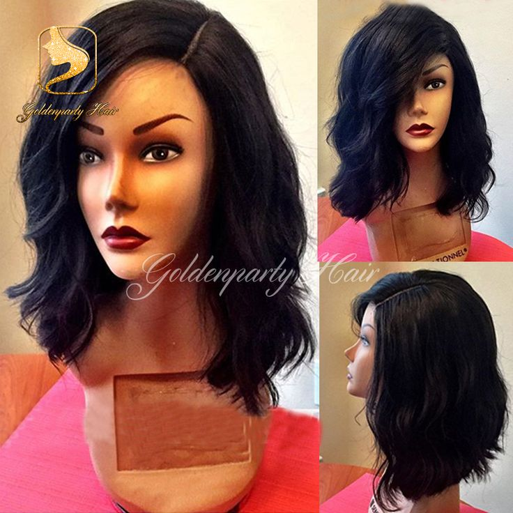 7A short loose wavy lace front wigs with baby hair side virgin hair lace wig Brazilian full lace human hair wigs for black women