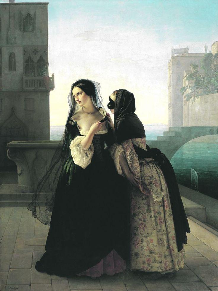 mulberryalliance:dreamwalkertobe:  Vengeance is sworn - Francesco Hayez, 1851  Whoa.