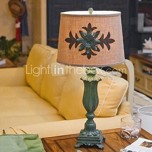 εκλεκτής ποιότητας πρότυπο επιτραπέζιο φωτιστικό από ξύλο, ένα φως, ρητίνη και ύφασμα (crotialth001) 1657166 2016 – €176.39