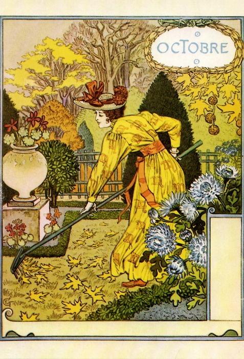 La Belle Jardiniere - Octobre (1896), Eugene Grasset  thanks toBob Young