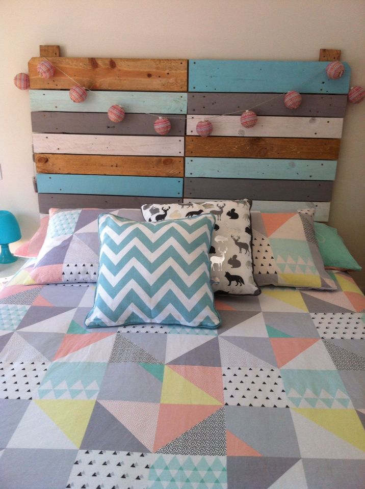 Cabecero de cama hechoamano by nicefamily realizado con pales reciclados