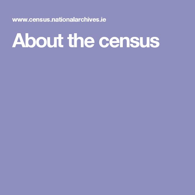 About the census