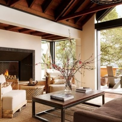 Warm neutral rustic living room ideas lovely rooms for Warm neutral living room