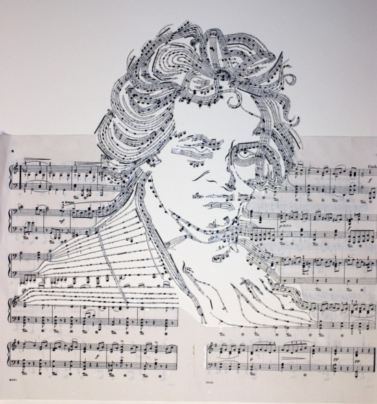 Music Sheet Collages by Erika Iris Simmons