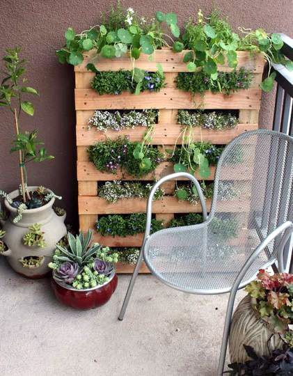 This is a great gardening idea for small spaces.